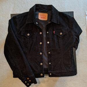 Levi's black corduroy jean jacket